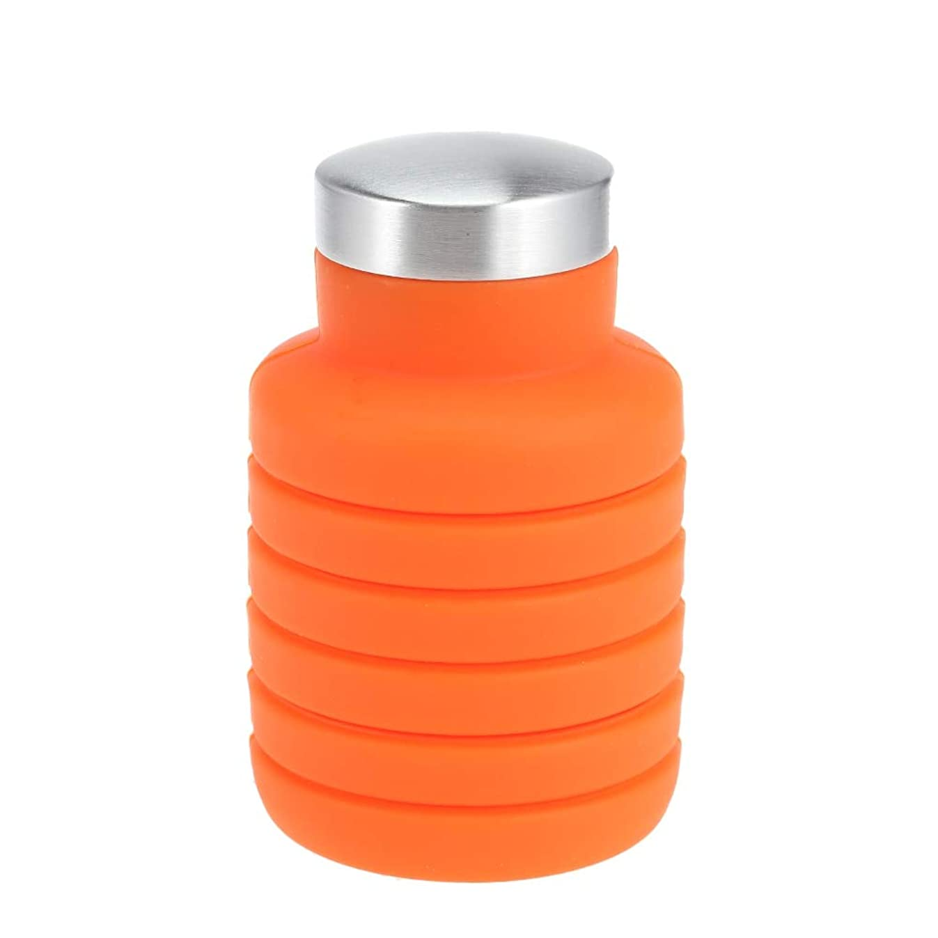 DeemoShop 500ML Portable Silicone Water Bottle Retractable Folding Coffee Bottle Outdoor Travel Drinking Collapsible Sport Drink Kettle