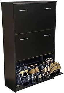 Venture Horizon Triple Shoe Cabinet- Black