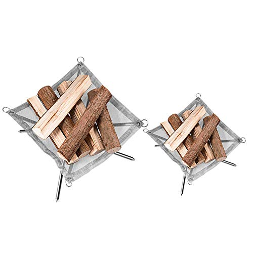 WFFF Foldable Fire Pit,Lightweight Brazier with Heater Bbq for Outdoor Camping