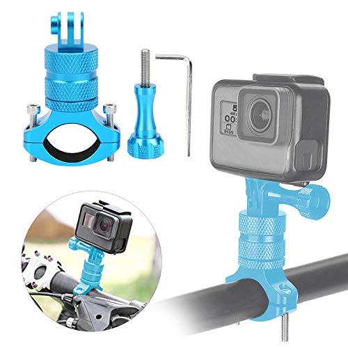 Jacksing Soporte Durable de la cámara de la acción de la Bici, Soporte Universal de la cámara de la acción, para la Bici(Blue)