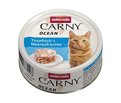 animonda Carny Ocean Katzenfutter, Nassfutter für Katzen, Thunfisch + Meeresfrüchte, 12 x 80 g