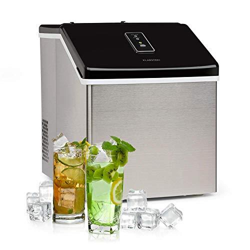 Klarstein Clearcube Eiswürfelmaschine - produziert Klareis, Produktionskapazität: 13kg/24h, Bedienfeld mit Touchscreen, unempfindliches Gehäuse aus Edelstahl, 3 Eiswürfelgrößen, pianoschwarz