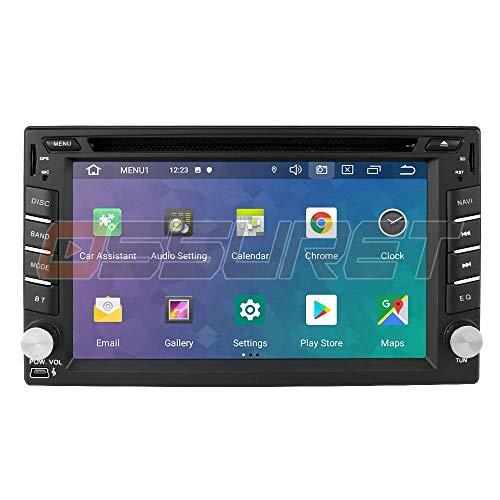 LYHY Car Navigator Android 10 Radio estéreo Universal para automóvil Navegación GPS con Pantalla táctil de 6.2 Pulgadas Soporte Espejo-Link Control del Volante WiFi 4G DVR OBD2 Dab +