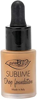 PuroBIO Certified Organic Second-Skin Sublime Drop Liquid Foundation with argan oil, antioxidants, vitamins. Full Coverage...