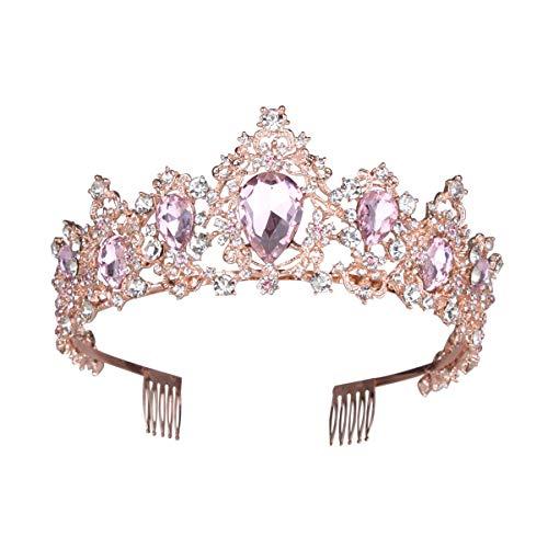 DEBAIJIA Damas Coronas Tiaras Nupcial Corona Señoras Diadema Cristal Damas Boda Princesas...
