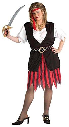 Forum Novelties Damenkostüm Piratenfrau Übergröße - Mehrfarbig - Mehr