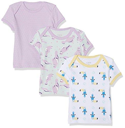 Care Baby-Mädchen T-Shirt im 3er Pack, Violett (Lavender 607), 0-3 Monate/50 cm, 3er-Pack