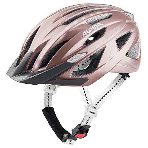 ALPINA Unisex– Erwachsene HAGA LED Fahrradhelm, Rose matt, 51-56 cm