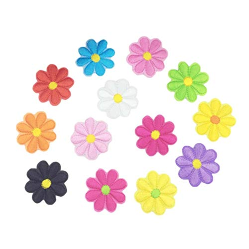 SUPVOX 26 piezas apliques bordados de flores margarita diy parches decoración para niños manualidades chaquetas ropa jeans bolsos