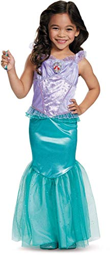 Disguise Disney Princess Little Mermaid Ariel Dress Deluxe Costume Medium 7-8