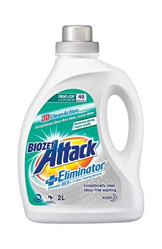 Biozet Attack Plus Eliminator Laundry Liquid Detergent, 2 liters