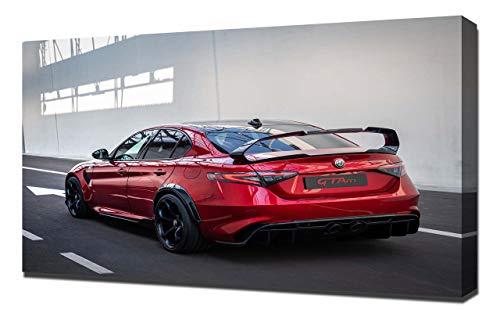 2021-Alfa-Romeo-Giulia-GTA-V5-1536 - Wandkunst - Leinwand Kunstdruck - Art Leinwandbild - Kunstdrucke - Gemälde Wandbilder