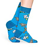 Happy Socks for Men and Women, 1 Pair | Colorful, Fun, Unique, Music & Song Themed Printed Patterns | Premium Cotton Sock (The Beatles, Fish & Whales, Size 10-13)