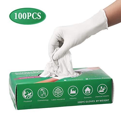 Gants jetables, Pumoes 100 gants en nitrile sans latex en poudre, pour le travail, la préparation...