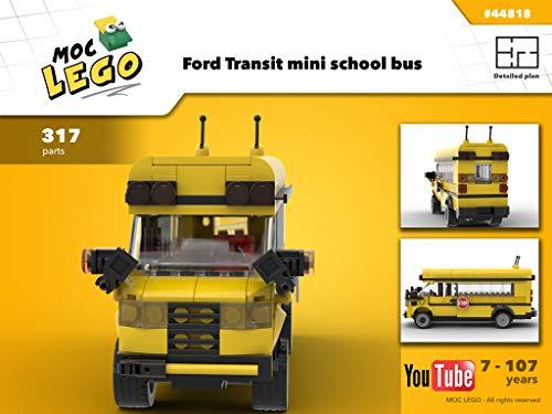 Ford Transit mini school bus (Instruction Only): MOC LEGO (English Edition)