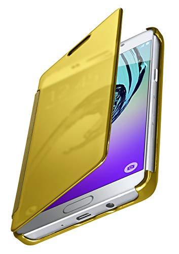 MoEx® Funda Protectora Fina Compatible con Samsung Galaxy A5 (2016)   Cristal Tintado Transparente, doré