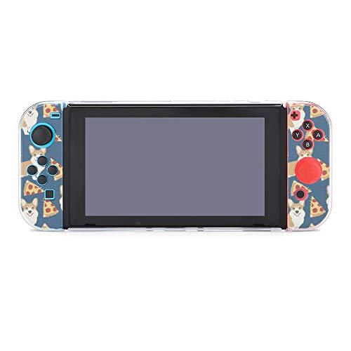 Funda protectora para Nintendo Switch, Corgi Dog Pizza Pattern Funda duradera para Nintendo Switch y Joy Con