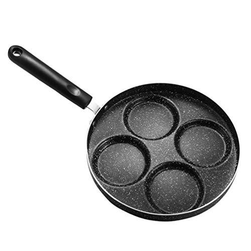 UPKOCH Pfannkuchenpfanne 4- Tasse Pancakes Pfanne Granit Antihaft Bratpfanne Non Stick Egg Frying Pan für Crepes Blinis Burger Breakfast Sandwich Maker Gas Elektrische Induktion Kochfelder