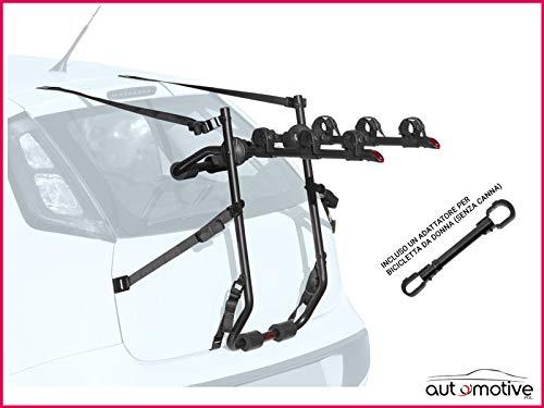 Proposteonline Portabici Posteriore 3 Bici Omologato Compatibile con Mercedes Classe B 5 Porte dal 2005 al 2010 Incluso Un Adattatore per Bicicletta da Donna Senza Canna 006148