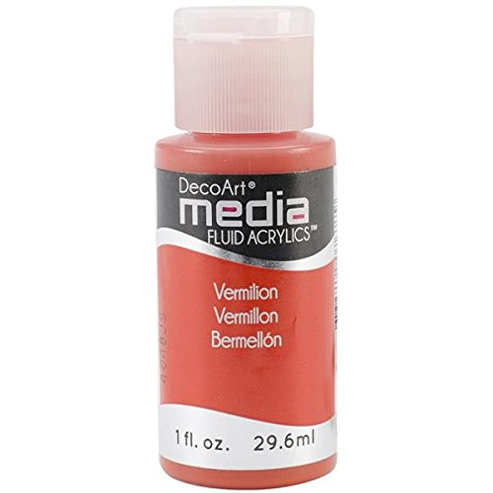 DecoArt DMFA-45 Media Fluid Acrylic Paint, 1-Ounce, Vermillion