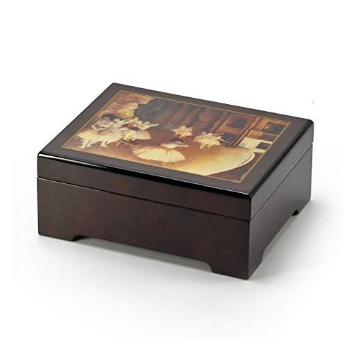 MusicBoxAttic Degas - Joyero Musical de Ballet, más de 400 Opciones de Canciones, Madera, 250. Memory (Andrew Lloyd Webber, Cats) - Swiss