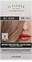 Il Salone Milano Permanent Hair Color Cream - 9.1 Light Iced Blonde Hair Dye - Professional Salon - Premium Quality - 100% Gray Coverage - Paraben Free - Ethyl Alcohol Free - Moisturizing Oils