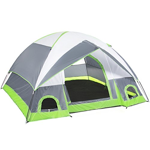 Best Choice Products 4 Person Camping Tent Family Outdoor Sleeping Dome Water Resistant W/Carry Bag