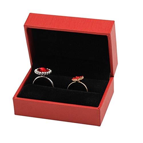 DC CLOUD Cajas Regalo Carton Cajas Carton Regalo Bastante Cajas de Almacenamiento Almacenamiento de joyería y bisutería Pequeñas Cajas de Regalo para Joyas Red