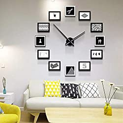 BoTaiDaHong 12PCS DIY Frame Photo Modern Wall Clock,Nordic Style Living Room Home Decor,for Bedside, Bedroom,Dormitory, Office, Parlor, Sanctum, Resturant
