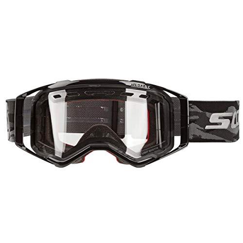 Scott Prospect Enduro LS MX - Occhiali da cross/mountain bike, colore: nero/grigio chiaro
