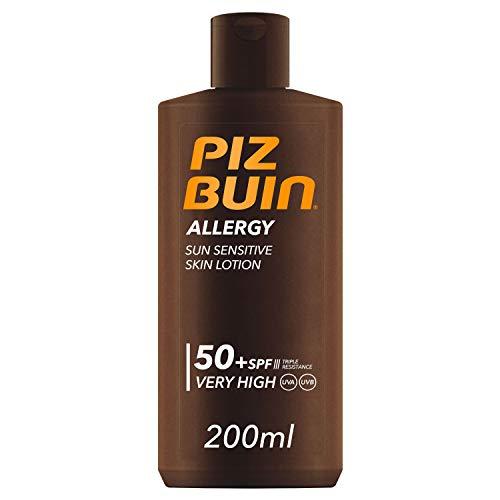 Piz Buin - Protección Solar, Loción allergy SPF 50+ - Protección Muy alta Bote 200 ml