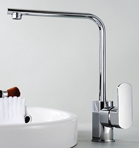 LHK Kitchen Sink Faucet Basin Mixer Tap Bathroom Faucets with US Standard Fitting Single Handle Brass Constructed Swivel Spout Kitchen Faucet Wenzhou Dish Hot and Cold Faucet Sink Faucet Kitchen