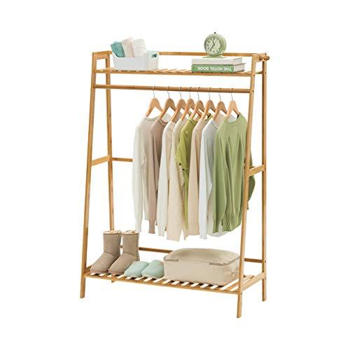 Râteliers multi-usages Rack de Stockage Simple Porte Manteau Solide Bois Chambre Cintre Moderne vêtements Rack Rack étage Casiers (Color : Beige, Size : 70 * 40 * 140cm)