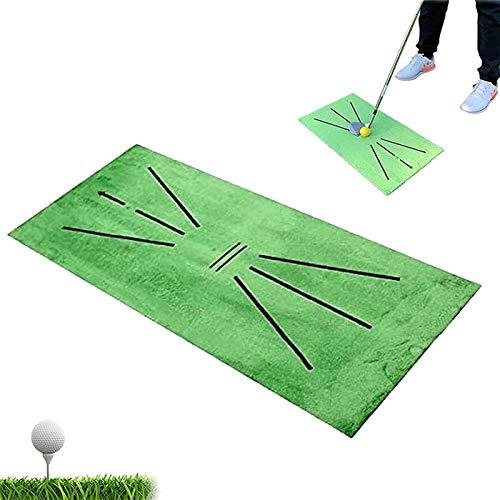 Esterilla de Golf portátil en para Entrenamiento Estera de golf, Detección de balanceo Mini Golf Mini Golf Practice Capacitando, Golf Portable Golf Turf Mat Regalo para la oficina en casa al aire libr