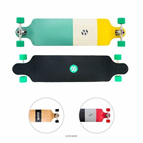 Eightbit 41 Inch Drop Down Complete Longboard - Green Block