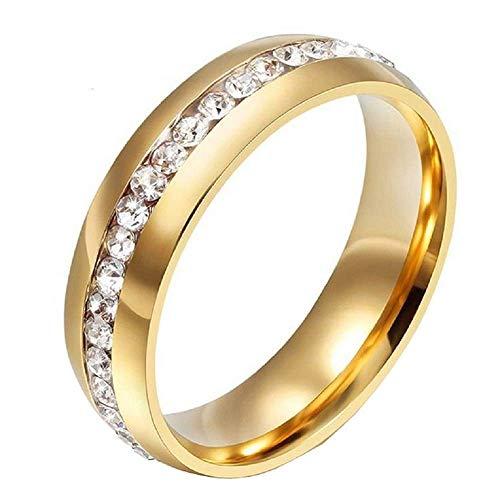 Verlovingsring - trouwring - elegant - briljanten - gouden kleur - man - vrouw - vriendjes cadeau-idee