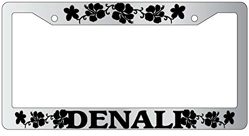 License Plate Frames, License Plate Frame DENALI HIBISCUS Auto Accessory 1984 Applicable to Standard car Rust-Proof Rattle-Proof Weather-Proof License Plate Frame Cover 15x30cm