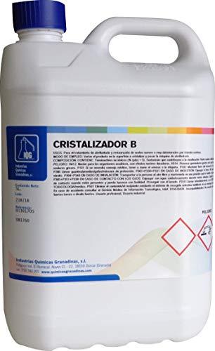 Cristalizador B de IQG. Líquido cristalizador para abrillantar suelos de terrazo, mármol, etc. nuevos o deteriorados por el tránsito. Uso con máquina industrial o doméstica. (5 L)