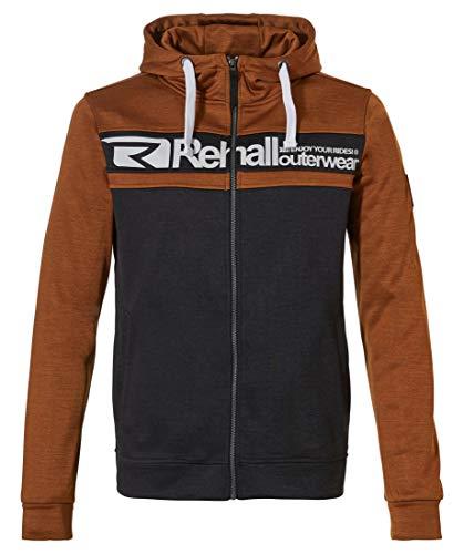Rehall Herren Waves-R Full Zip Hooded Jacke 60032 Copper Brown-XL