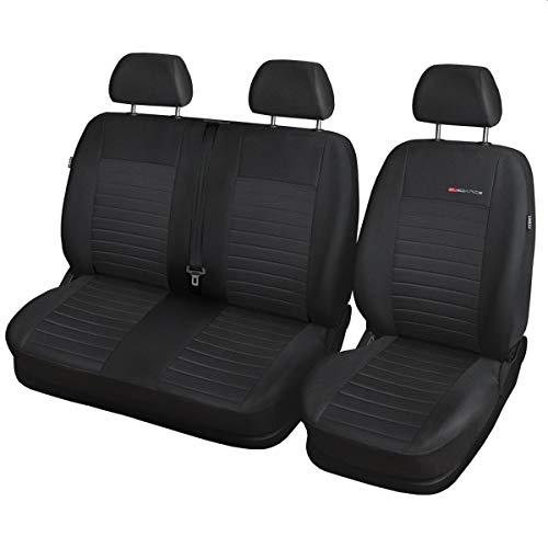 Volkswagen T6 Fundas de asiento a medida, ajuste perfecto, fundas protectoras de asiento de terciopelo + acolchado de punto ®Auto-schmuck (9 p4)