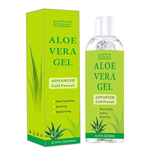 Weixinbuy Aloe Vera Gel, After Sun Lotion para el cuidado de la piel, Gel hidratante para quemaduras solares y acné-240ml
