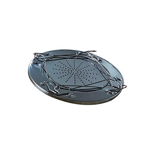 Kraeoke Tostadora de acero inoxidable para camping, estante para tostadas, plegable, para barbacoa, pan, carne, camping o picnic
