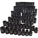 Klutch Impact Socket Set - 94-Pc. 3/8in.- and 1/2in.-Drive