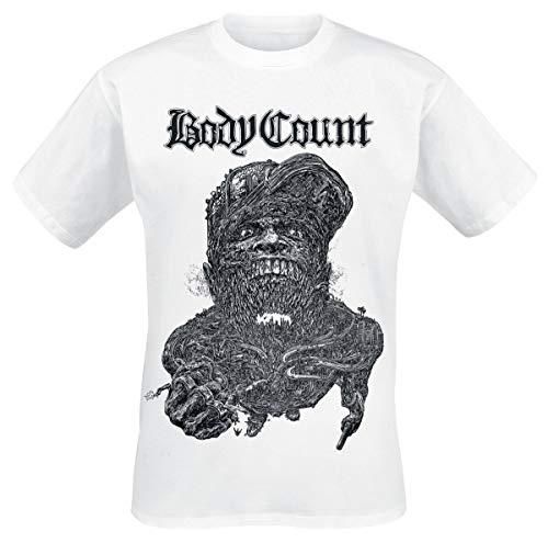 Body Count Carnivore Hombre Camiseta Blanco XXL, 100% algodón, Regular