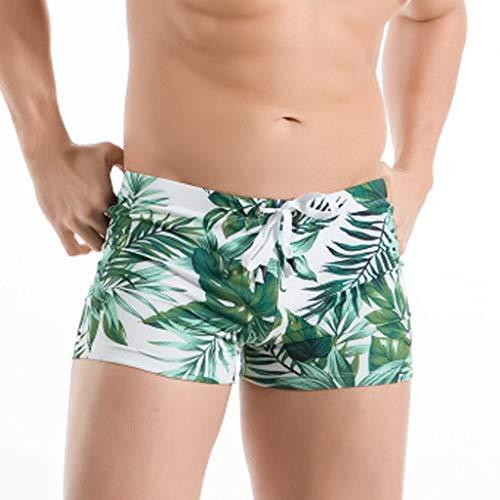 Minikimi Zwembroek voor heren, kort Hawaii, sneldrogend, comfortabel zwembroek, watersport, stijlvolle strandshorts met trekkoord