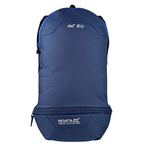 Regatta Unisex Packaway Rucksack, Dark Denim/Nautical Blue, Einheitsgröße
