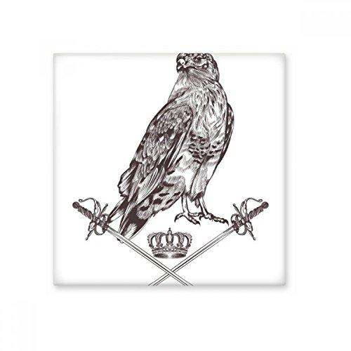 Eagle espada corona Animal Negro Blanco barroco estilo cerámica crema azulejos para la decoración de cuarto de baño decoración de la cocina azulejos de pared azulejos de cerámica