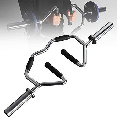 VULID EZ Curlstange Mit Gebogenem Handgriff, Langhantel Gewichtheben Straight & Curl-Stange Für Bizeps-Curls Und Arm-Übungen