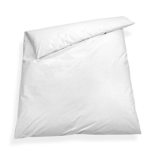 sleepling Komfort 100 Evolon Encasing Bettbezug, Allergie und Anti Milben Schutz für Hausstauballergiker, 135 x 200 cm weiß