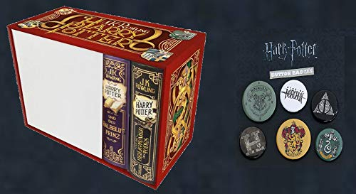Harry Potter: Band 6 + 7 im Schuber + 1 Original Harry Potter Button (Heiligtümer des Todes / Halbblutprinz)
